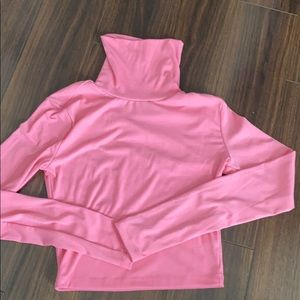Princess poly pink turtle neck crop top. Worn once